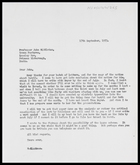 Letter from John Middleton to MG, 14 Sep. 1973