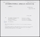 Letter from Secretary, IAI, to [Executive Council members], 17 July 1974