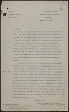 Letter from Herschel V. Johnson to Viscount Halifax re: Recruiting Jamaican Labour for Panama Canal, January 9, 1940