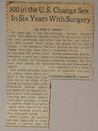 500 in the U.S. Change Sex in Six Years With Surgery