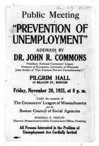 Invitation and Handbill, National Consumers' League Meeting, November 1925
