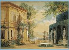 Austria, Vienna, set design for performance Thus Do They All, or The School For Lovers, by Heinrich Lefler
