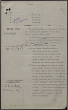 Draft Minute from Home Secretary re: Racial Tensions in Notting Hill after Murder of West Indian Man, Kelso Cochcrane, May 22, 1959