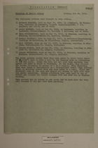 Translation (Extract) of a List of Persons Brought to the Office, October 24, 1950