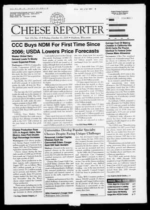 Cheese Reporter, Vol. 133, No. 15, Friday, October 10, 2008
