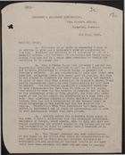 Copy of Letter from Oswald E. Anderson to Dr. Moody re: Colonial Government and Conditions in Jamaica, July 5, 1938