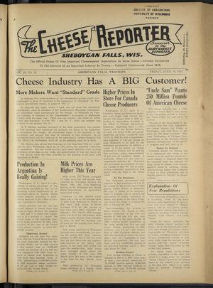 Cheese Reporter, Vol. 65, no. 33, Saturday, April 18, 1941
