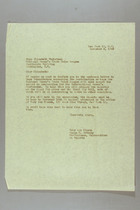 Letter from Mary van Kleeck and Susan B. Anthony (II) to Elisabeth Christman, November 8, 1945