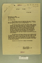 Brigadier General Don E. Carleton to Brigadier General E. E. Hume, May 15, 1945