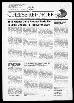 Cheese Reporter, Vol. 130, No. 49, Friday, June 9, 2006