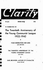Clarity (periodical), Vol. 3 no. 2, Spring Issue, 1942, Clarity, Vol. 3 no. 2, Spring Issue, 1942