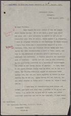 Copy of Letter from Mark Young to Sir Murchison Fletcher re: Marcus Garvey, August 13, 1937