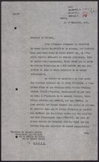 Letter from to W. A. Smart to Colonel Andrea re: Protection of English Hospital, December 17, 1925