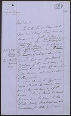 Memo from J. L. A. Simmons to Mil. Lee, May 7, 1877
