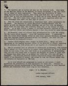 Copy of Notes re: Employment, January 12, 1948