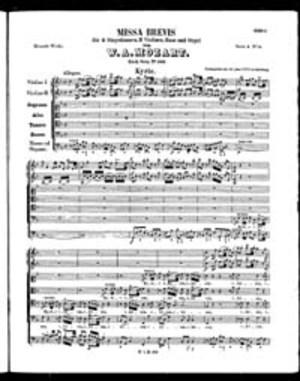 Missa Brevis, K. 192, F Major