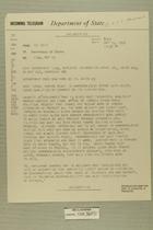 Telegram from Ivan B. White in Tel Aviv to Secretary of State, May 15, 1956