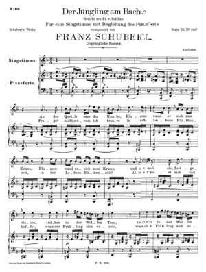 Der Jüngling am Bache.Gedicht von Fr. v. Schiller., D. 638a, D. 638/Op. 87, C Minor
