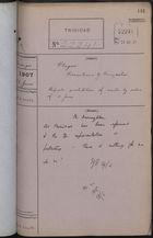 Correspondence Cover Sheet re: Plague Precautions by Venezuela, June 22, 1907