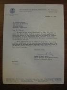 Berwyn A. Cole to Stanley Milgram, November 21, 1960