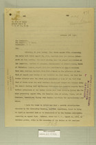 Letter from Benedict Crowell to the Secretary of State, Oct. 16, 1919