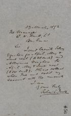 Letter from Robert Logan Jack to Queensland National Bank Manager, March 23, 1893
