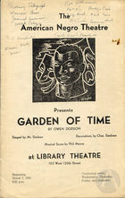 Playbill for The Garden of Time, written and directed by Owen Dodson