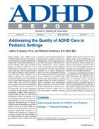 Addressing the Quality of ADHD Care in Pediatric Settings