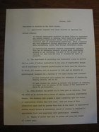Memorandum to Students in the First Course