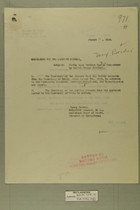 Memo from Henry Jervey re: Firing upon Mexican Custom Inspectors by United States Soldiers, August 1918