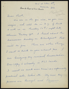 Letter from Jane to Ruth Benedict, undated