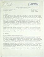 Field report from Gardner Gantz, re: September 1943 report of El Oro Technical Mission Engineering Section, October 8, 1943