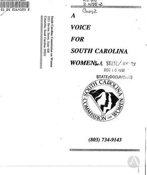 A Voice for South Carolina Women