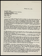 Letter from MG to Sir Arthur Smith, 7 Feb. 1972
