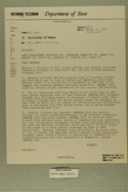 Telegram from Francis H. Russell to Secretary of State, March 17, 1954