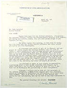 Letter from Charles O'Neill to John T. Lassiter, April 24, 1943