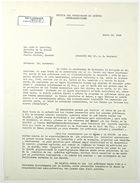 Letter from John M. Clark to A. G. Sandoval re: Livestock and Dairy Loans, January 16, 1943