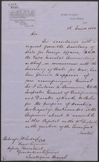 Letter from R. B. Hawley to J. C. Ardagh, June 8, 1880
