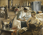 The First Wounded, London Hospital, 1914, 1914 (oil on canvas)