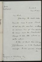 Confidential Letter from Henry Drummond Wolff to Marquess of Salisbury, May 17, 1897