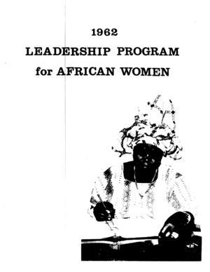 1962 Leadership Program for African Women
