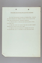 Resolutions of the First International Congress of Working Women, Washington, D.C., 1919