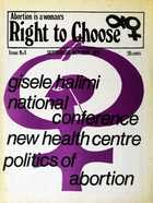 Abortion is a Woman's Right to Choose, Issue No. 8, September-October 1975