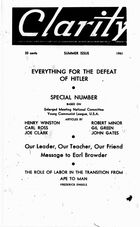 Clarity (periodical), Vol. 2 no 2, Summer Issue, 1941, Clarity, Vol. 2 no 2, Summer Issue, 1941