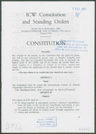 ICW Constitution and Standing Orders