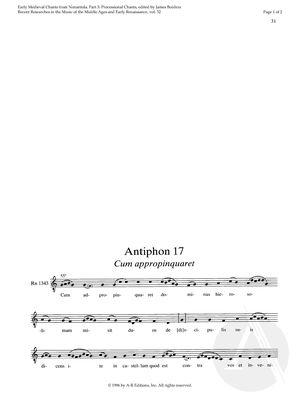 Antiphon 17:  Cum appropinquaret