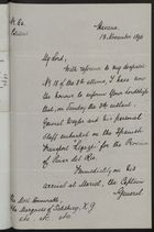 Letter from Cecil Gosling to the Marquess of Salisbury, November 13, 1896