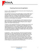 Hong Kong: Government & Legal System
