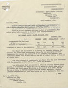 Letter to W.D.S. Jones re: Calculation of Barley Stocks, November 29, 1941