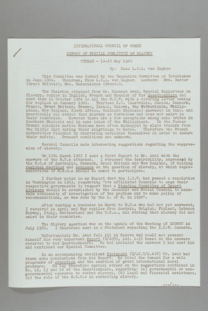 Report of Special Committee on Slavery, Tehran, 14-26 May 1966